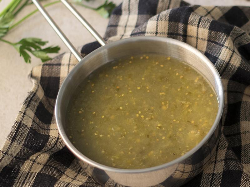 SALSA VERDE CASERA | Llena de sabor para utilizar con varios platillos.