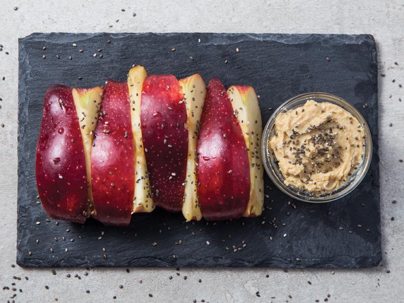 MANZANA CON MANTEQUILLA DE MARAÑÓN | El snack perfecto para llevar.