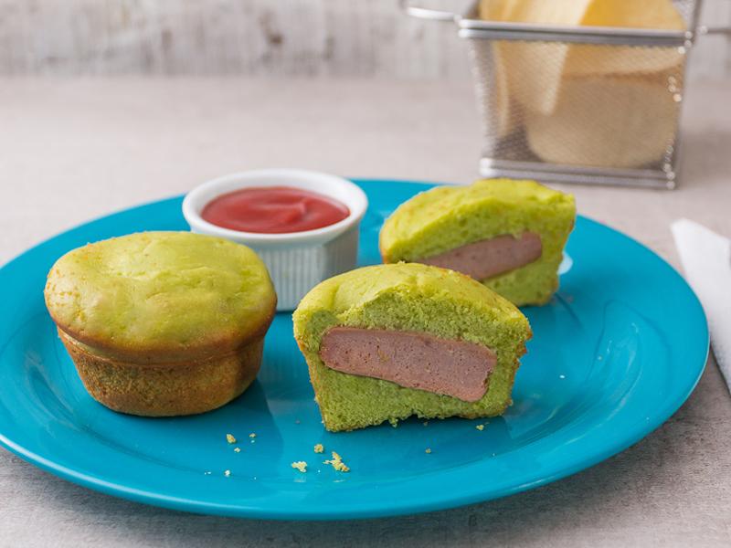 PASTELITOS CON SALCHICHAS ESCONDIDAS   Muchos nutrientes en un mismo mismo pastelito.