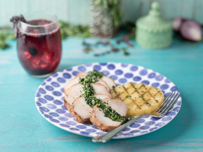 LOMO DE CINTA A LA PARRILLA CON CHIMICHURRI | Una forma deliciosa y diferente de comer cerdo.