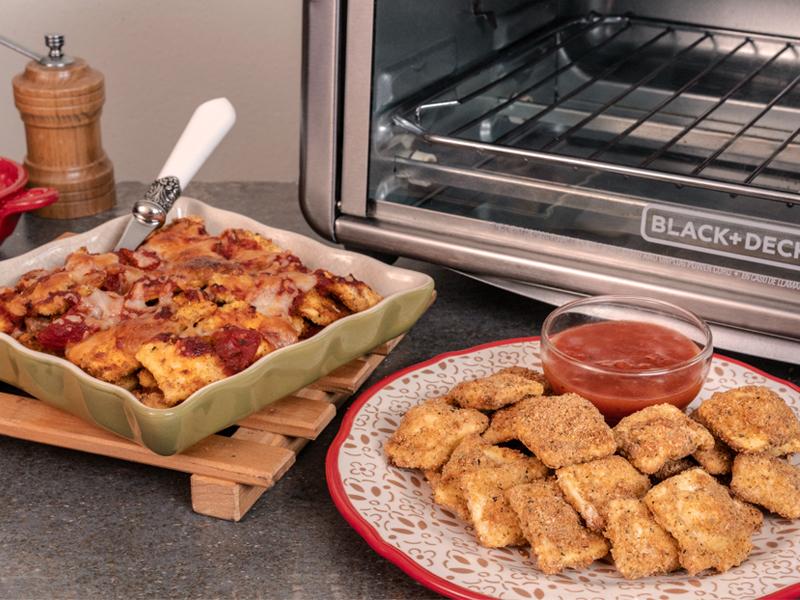 Raviolis Fritos y Horneados sin Aceite ¡cero culpa! | Con el Horno con Tecnología para Freír de BLACK+DECKER® puedes hacer esta y muchas más recetas deliciosas ¡sin culpa!