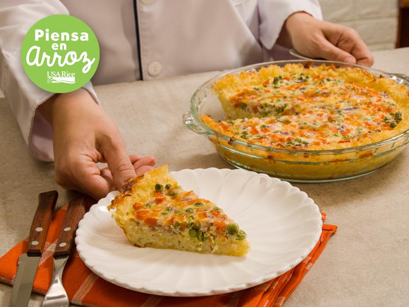 QUICHE DE ARROZ | Una forma diferente de comer arroz.