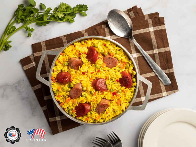 PAELLA DE EMBUTIDOS | Una rica paella con embutidos de primera calidad, norteamericanos.