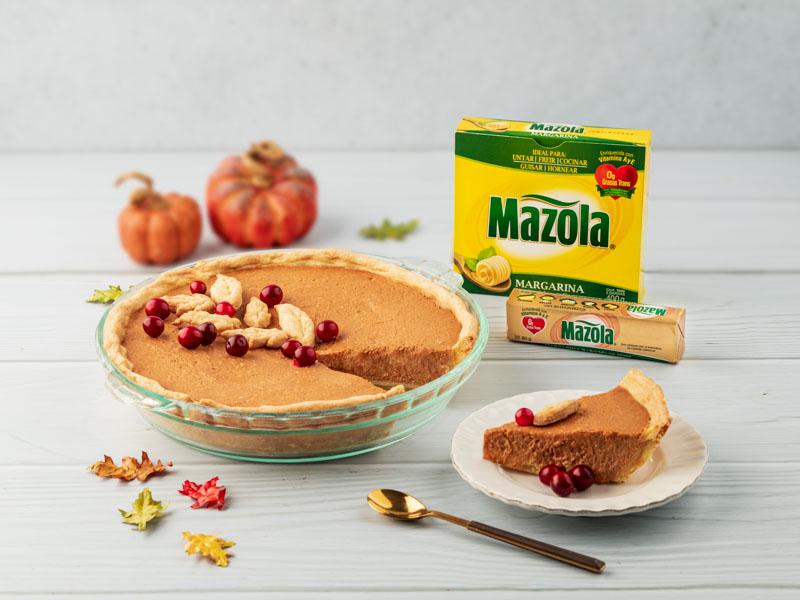 PUMPKIN PIE | El tradicional pie de calabaza para comer en Thanksgiving.